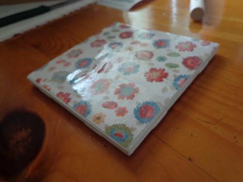 Paper glued