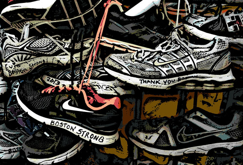 Boston Strong (Digital Woodcut) by randubnick