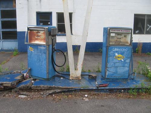 abandoned gasstation wv westvirginia gaspump sunoco mingocounty 2013