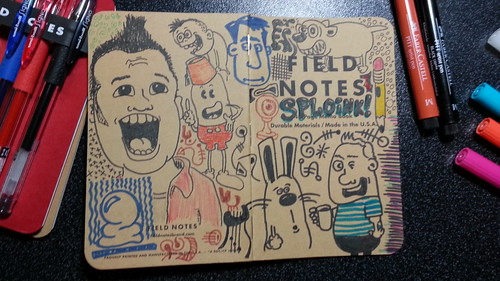 Field Notes memo book cover doodled and ready for action