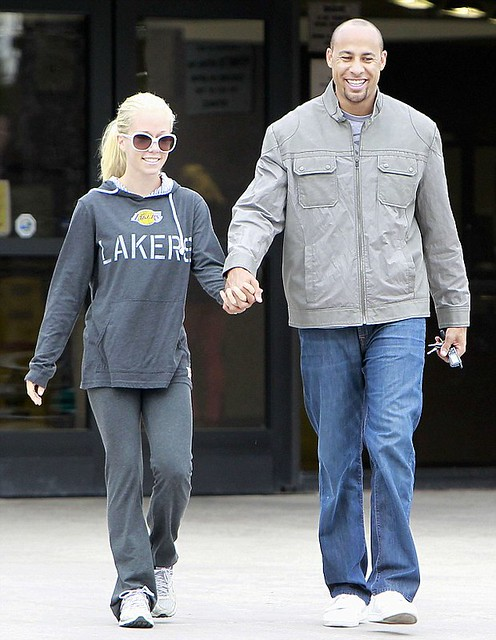Kendra Wilkinson in Sportiqe LA Lakers Sweatshirt