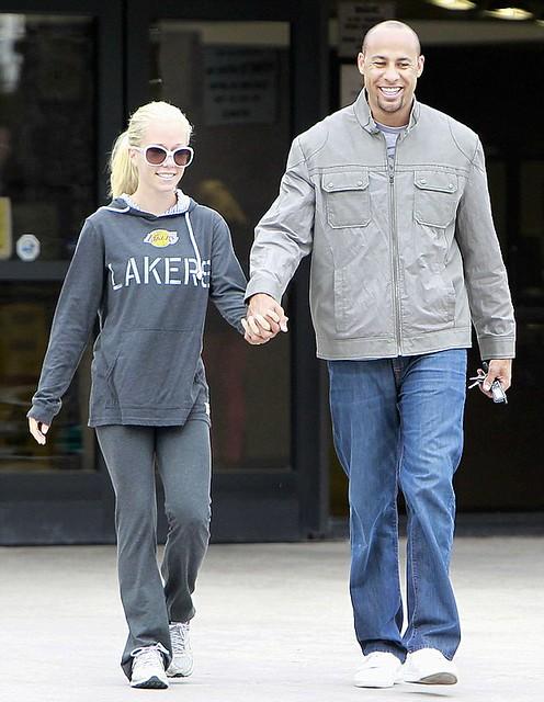 Kendra Wilkinson in Sportiqe LA Lakers Sweatshirt