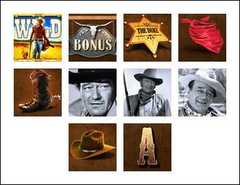 free John Wayne slot game symbols