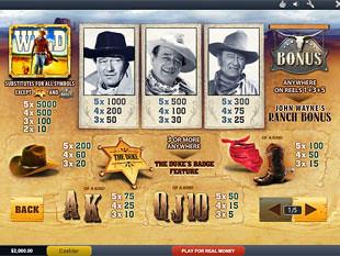 free John Wayne slot mini symbol