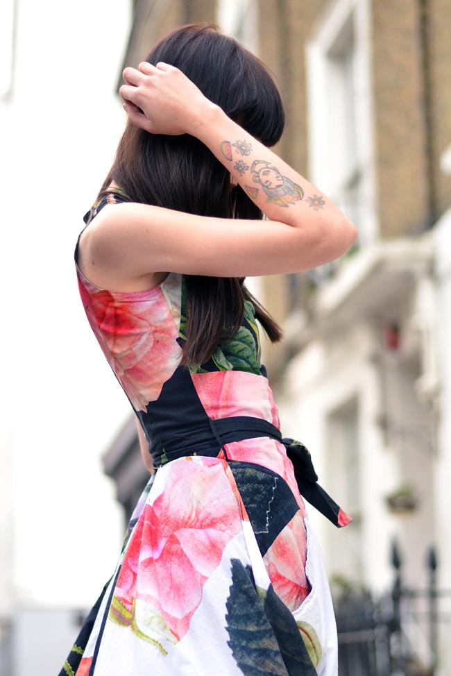 Vivienne Westwood floral dress outfit 5