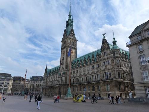 Plaza del Ayuntamiento (Rathausplatz) de Hamburgo