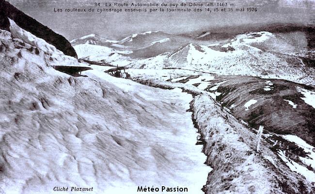 tourmente de neige sur le Massif Central à la mi-mai 1926 météopassion