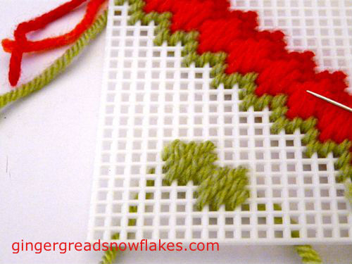 Plastic Canvas: Moorish stitch