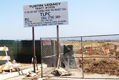 'Glamour' of OC / Tustin Legacy - AQMD Sign - 'Don't Excuse Our Dust'