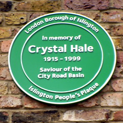 Photo of Crystal Hale green plaque