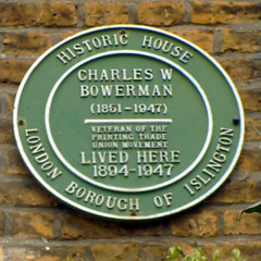 Photo of Charles W. Bowerman green plaque