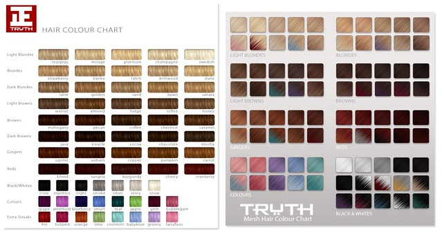 Truth hair colors, old/new