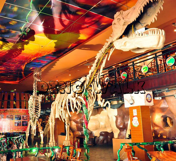 Jurassic Cafe Decorations in the playground