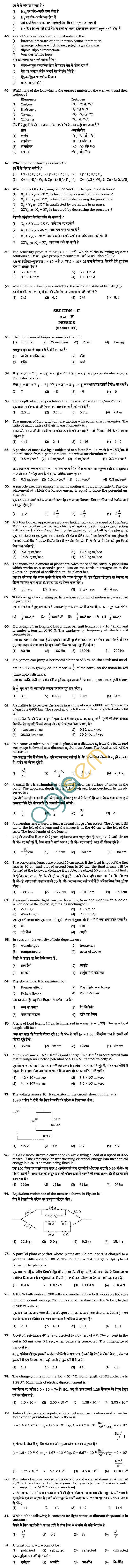 BHU UET 2010 B.Sc. Bio Question Paper