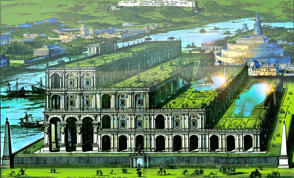 Jardines Colgantes De Babilonia Concepto Precursor E