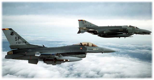 The 81st Hunter/Killer team, equipped with the F-4 Phantom and F-16 Fighting Falcon