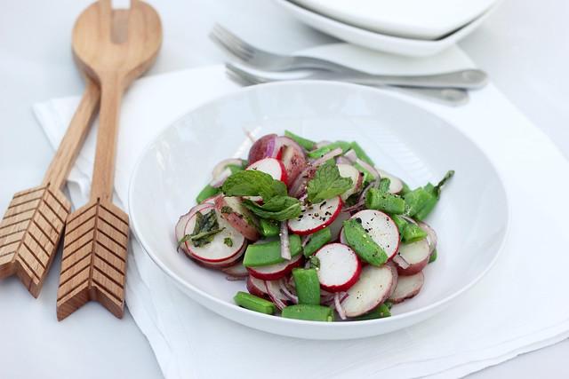 Spring Potato Salad with Sugar Snap Peas and Radishes - Gluten-free + Vegan