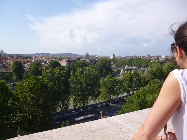 Part of the panoramic view of Rome