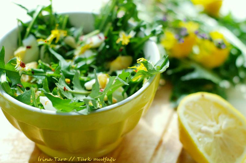 Салат с одуванчиков рецепт