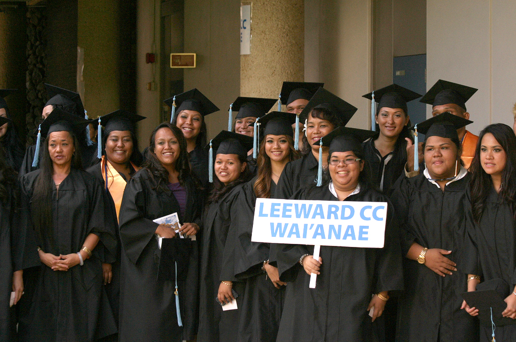 "<p>Leeward Community College graduates at the campus' commencement ceremony at the Tuthill Courtyard. May 4, 2013<br /> <br /> View more photos at <a href=""http://www.flickr.com/photos/leewardcc/sets/72157633591032402"">www.flickr.com/photos/leewardcc/sets/72157633591032402</a></p>"