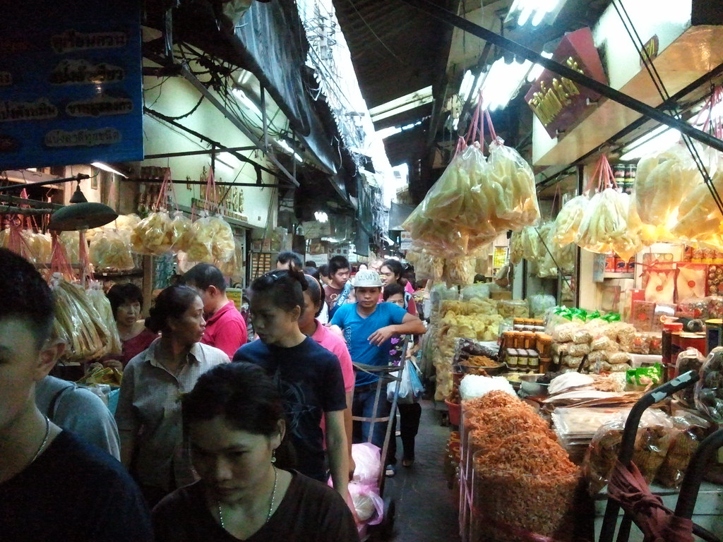 The old market in Bangkok