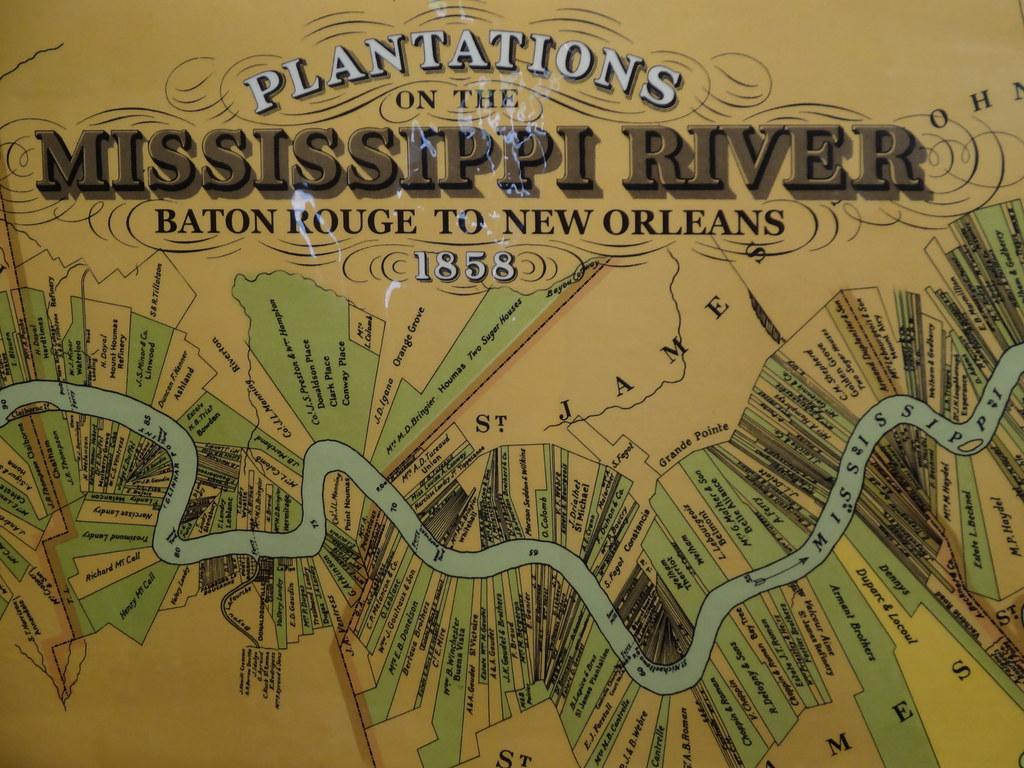 Map Of Louisiana Plantations.Map Of Mississippi Sugar Cane Slave Plantations Map Of Sug Flickr