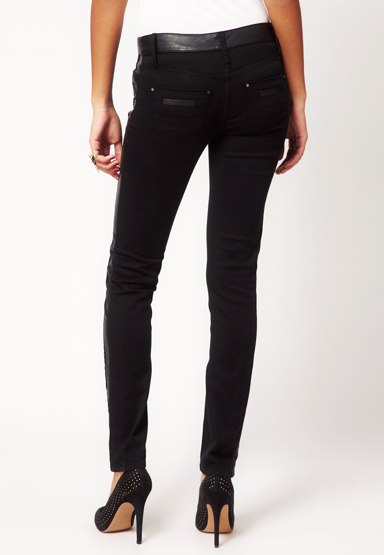 River Island Taylor Jean with Leather Look Waistband