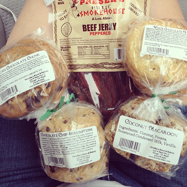 #nomnoms stop. #cookies and #beefjerky #texas #goodies #yum