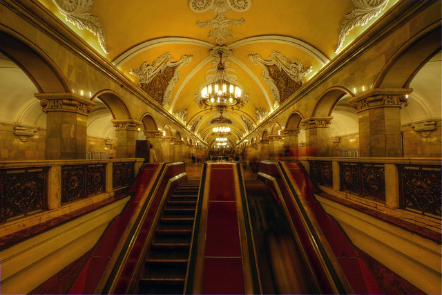 rush hour moscow metro
