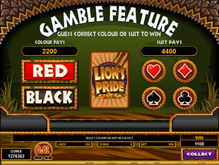 Lion's Pride Gamble Feature