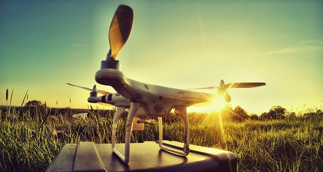 Ready for take off...DJI Phantom Quad-Copter
