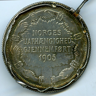 Minnemynt fra Kroningen 1906 - 2 kroner (Revers)
