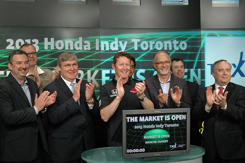 Scott Dixon opens the Toronto Stock Exchange