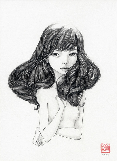 "Hemera. 8.25"" x 11.25"". Graphite on Watercolor Paper. © 2013."
