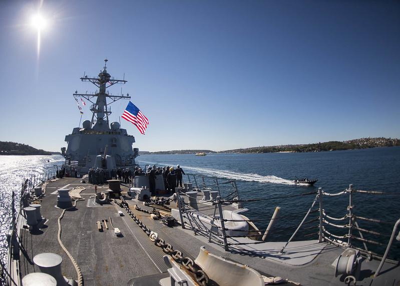 USS Momsen (DDG 92) port visit Sydney Australia