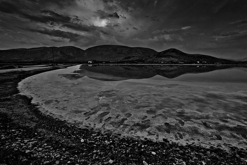 bw canon landscape salt greece 550d messolonghi
