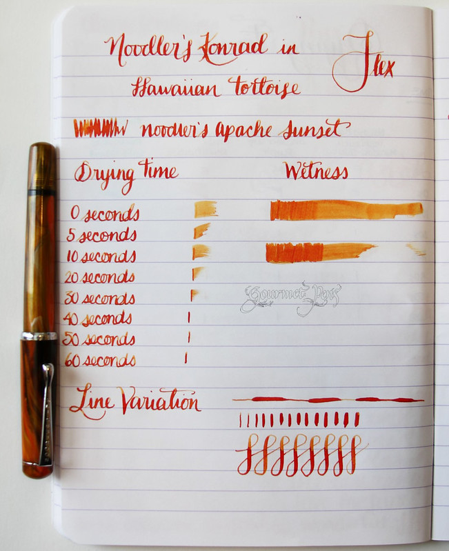 Noodler's Konrad Flex Fountain Pen Writing Sample
