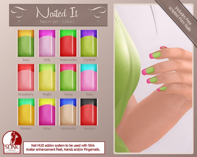 Nailed it Vendor - Neon Set - Colors