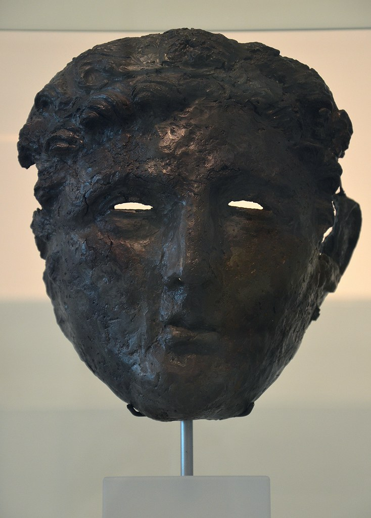 Cavalry mask, found in the Beekmansdal east of the Hunerberg, Noviomagus, Museum het Valkhof, Nijmegen (Netherlands)