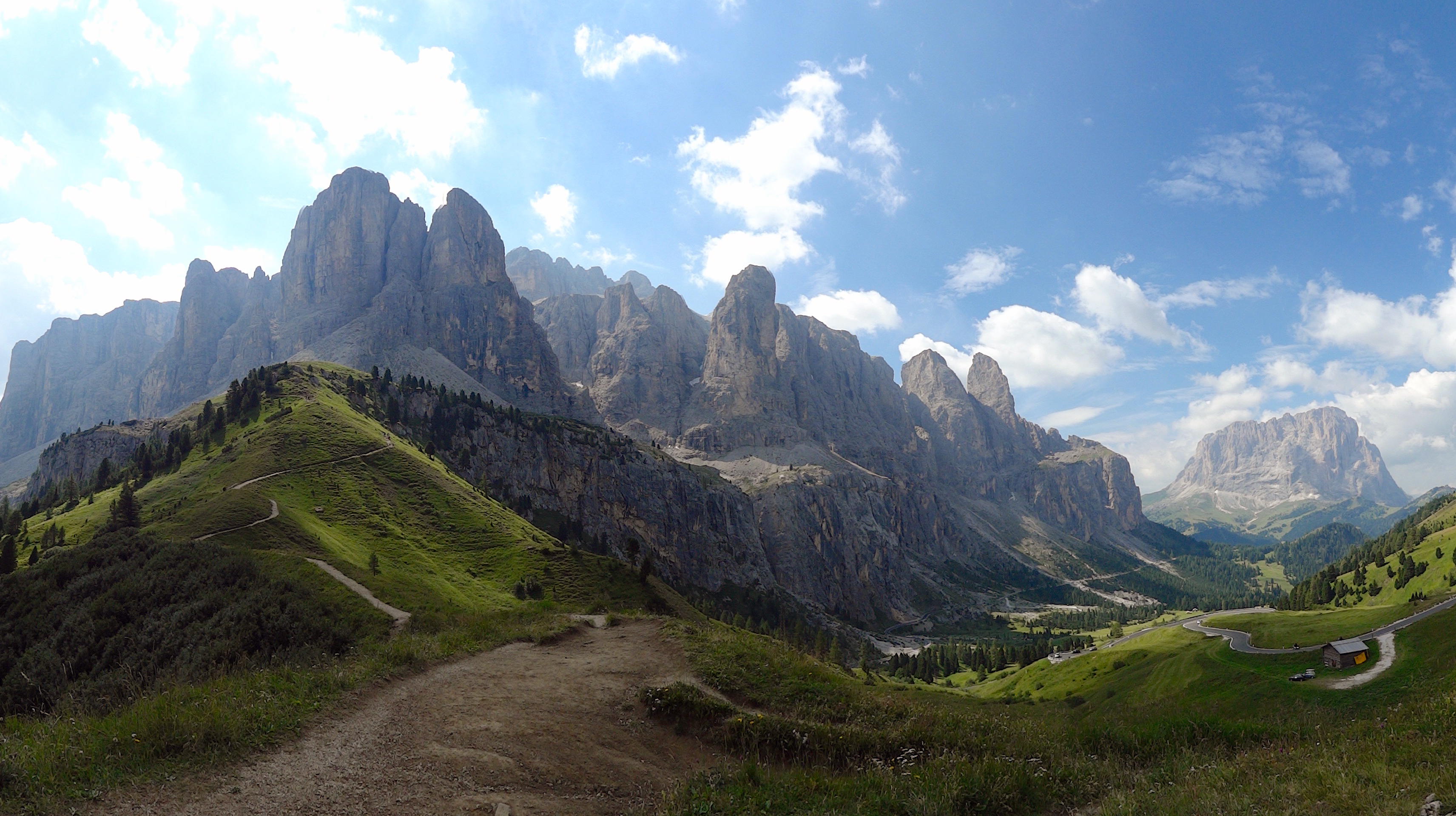 150 M To Ft Panorama Of The Dolomites Mountains Sella Group Or