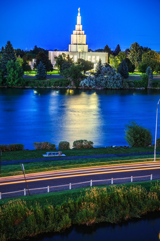 Idaho Falls at Night