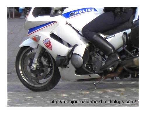 Bottes motard Police CRS
