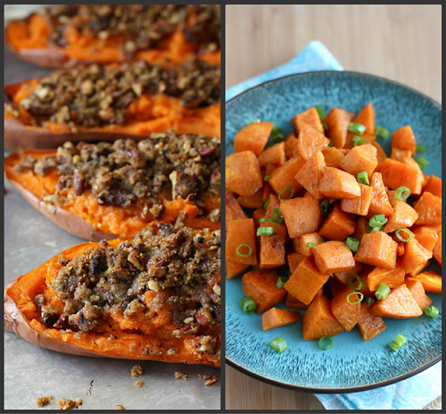 Chipotle Twice Baked Sweet Potatoes: Stuffed Sweet Potato Recipe W/ Spinach