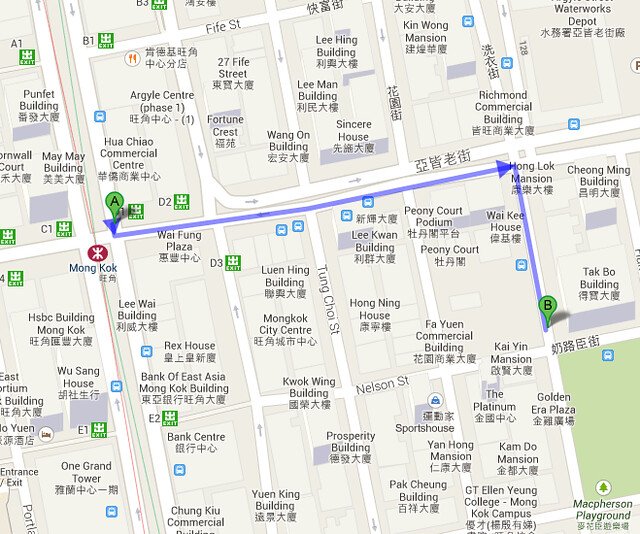 Where to get a Chinese Visa in Hong Kong - Map