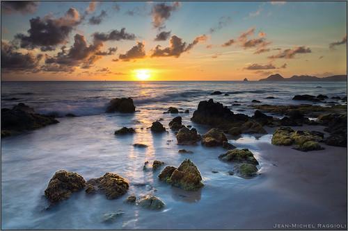 sunset seascape martinique caribbean ssun