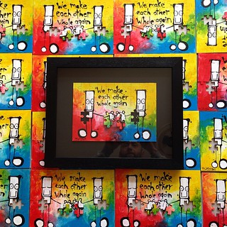 I'll be releasing an edition of 20 hand painted Everyman jigsaws tomorrow at 9am bst via my website (see my profile for link). Each one professionally framed and delivered in time for valentines day. #valentine #valentinegift #everyman #mydogsighs