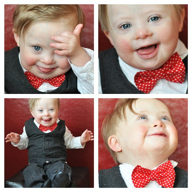 He killed it with the cuteness today! So many cute shots for a Valentine's Day card and his 17 month blog post. The Valentine's Day bow tie from @lollyludesigns was perfect!