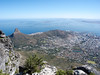 View from Table Mountain toward Cape Town