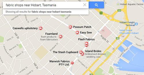 hobart fabric shops