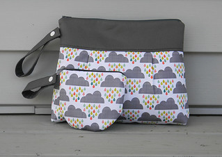 Diaper clutch with Pacifier Holder